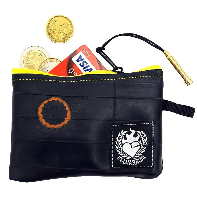 5 star review for our yellow bike purse