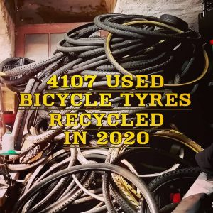 bicycle recycling sustainability report for 2020, for bicycle tyres